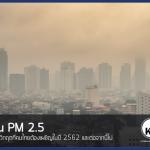 ฝุ่น PM 2.5 กับ วิกฤตที่คนไทยต้องเผชิญในปี 2562 และต่อจากนี้ไป
